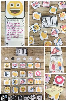 """These 36 editable Emoji Kindness bulletin board pieces make a creative bulletin board for the novel Wonder by R.J. Palacio, Kindness Week, Anti-Bullying Week, Digital Citizenship and more. Also includes a """"Choose Kind"""" sign and accent pieces to make your display look like the Emoji Keyboard!"""