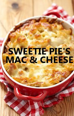 Rachael Ray got Miss Robbie and Tim from 'Welcome to Sweetie Pie's' to share their time-tested soul food restaurant recipe for Sweetie Pie's Mac & Cheese. http://www.foodus.com/rachael-ray-sweetie-pies-mac-cheese-recipe/
