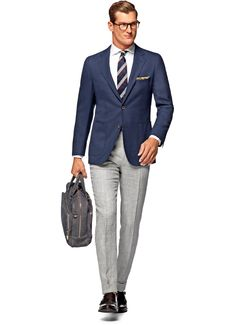 Jacket Blue Plain Havana C848i | Suitsupply Online Store