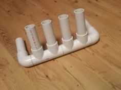 PVC Pipe Rod holders are a great diy project for any fisherman. Learn how to build your own pvc pipe rod holder. PVC Pipe diy projects and plans shows you how Fishing Pole Storage, Fishing Pole Holder, Fishing Rods, Fishing Lures, Catfish Fishing, Surf Fishing, Fishing Stuff, Fishing Cart, Saltwater Fishing