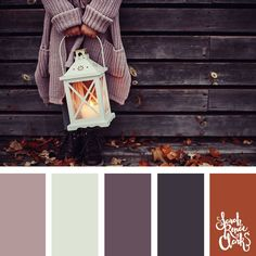 Warm vibes for autumn color inspiration | Click for more fall color combinations, mood boards and seasonal color palettes at http://sarahrenaeclark.com