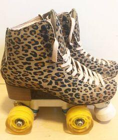 Leopard Fashion, Fur Fashion, Fashion Shoes, Skates, Jungle Boogie, 80s Costume, Disney Phone Wallpaper, Pumped Up Kicks, Roller Skating