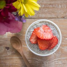 date and chia seed pudding for breakfast