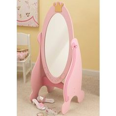 about Kidkraft 76137 Pink Princess Cheval Dress Up Mirror for Kids/Girls Furniture NEW Fun and Stylish Little Girls Bedroom Furniture Design, Princess Toddler Collection by KidKraft – Mirror - California's Home, Design and Gifts Market Big Girl Bedrooms, Little Girl Rooms, Princess Bedrooms, Girls Bedroom Furniture, Kids Bedroom, Bedroom Ideas, Children Furniture, Bedroom Makeovers, Bedroom Designs