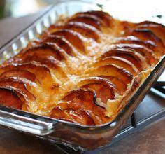 English Muffins and Ham Strata Breakfast bake - Adapted Martha Stewart