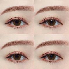 Fashion asian make up new Ideas Korean Makeup Look, Asian Eye Makeup, Eye Makeup Tips, Makeup Goals, Makeup Inspo, Makeup Inspiration, Makeup Products, Makeup Ideas, Kawaii Makeup