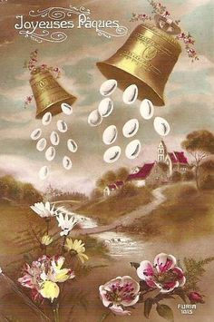 Coutumes et traditions. Fêtes de Pâques. Réjouissances, agneau, oeufs, cloches. Légendes attachées à la tradition.