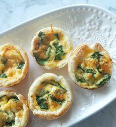 Mini Spinach and Cheese Quiche Recipe