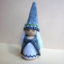 Image result for knitted hats for peg dolls