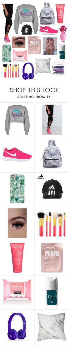 """""""Chill Day"""" by alwirth ❤ liked on Polyvore featuring River Island, NIKE, Street Level, adidas, Lapcos, Christian Dior and Vera Bradley"""