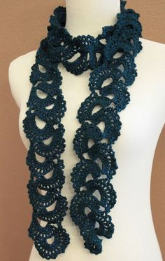 perfect accessory to every outfit!  (Pattern can be found here ... http://www.ravelry.com/patterns/library/queen-annes-lace-scarf-2)