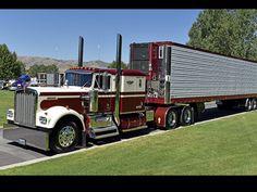 Kenworth Conventional with Matching Reefer Rc Cars And Trucks, Big Rig Trucks, Custom Trucks, Semi Trucks, Cool Trucks, Peterbilt 379, Peterbilt Trucks, Trailers, Big Ride