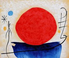 Joan Miró, The red sun (l) on ArtStack #joan-miro #art