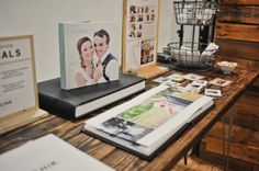 - positioning albums on top of others.  wedding booth 007
