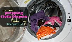 Fluffy Friday: Prepping Cloth Diapers IS easy.  #clothdiapers