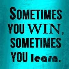 Sometimes you learn!