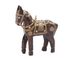 """Статуэтка """"Лошадь 6"""" - дерево - Д16хВ16   Westwing Интерьер & Дизайн Lion Sculpture, Horses, Statue, Horse, Sculptures, Sculpture"""