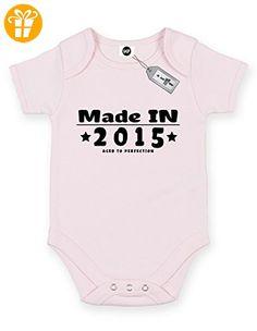 Made in personalisierbar individuell mit jedem Jahr, kurze Ärmel Baby Body Strampler. KOSTENLOSE LIEFERUNG IM LIEFERUMFANG ENTHALTEN. Rosa Hellpink (*Partner-Link)
