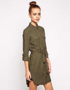 Image 1 ofNew Look Utility Shirt Dress