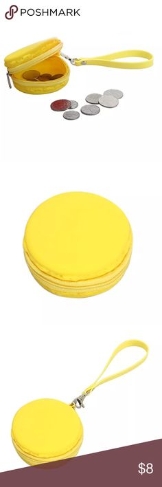 2⃣2⃣ SALE! Macaroon Coin Bag Mmm macaroon! This cute little bag is a bright yellow with a zip all the way around. Easy to carry on your wrist or lopped onto a key ring. About 3 inches. Price is for one. Bags Mini Bags