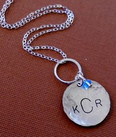 Sterling Silver Initial Charm Necklace by SeaSaltShop on Etsy, $26.00