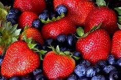Blueberries, strawberries and raspberries all contain vitamins C and E, which are terrific for your skin.