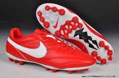 Nike The Premier AG Boots Red/White For Sale