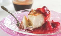 Weezie's Sour Cream Cheesecake with Strawberry Compote