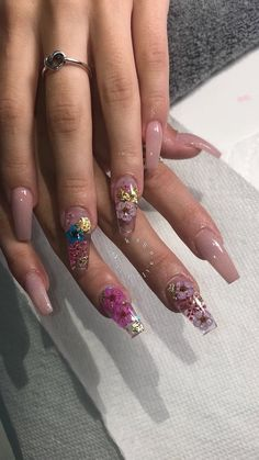 Image in Nails💅🏾 collection by 🦋 on We Heart It - Long Nails - Aycrlic Nails, Bling Nails, Swag Nails, Coffin Nails, Summer Acrylic Nails, Best Acrylic Nails, Encapsulated Nails, Fire Nails, Dream Nails