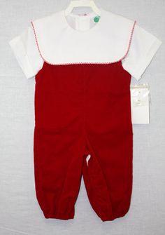 C077291582  Baby Clothes Christmas Jon Jon Baby Boy by ZuliKids, $43.50