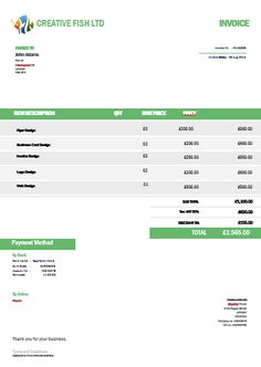 27 Best Creative Invoice Templates For Freelancers Images
