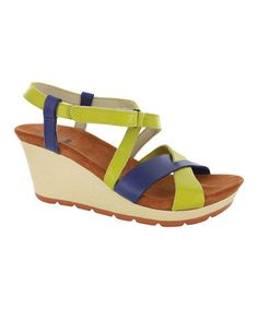 Take a look at this Canary Yellow & Steel Invidia Leather Wedge on zulily today!