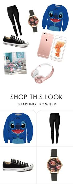 """""""girl night in"""" by fashionaddictqueen1 ❤ liked on Polyvore featuring interior, interiors, interior design, home, home decor, interior decorating, Converse, Olivia Burton and PBteen"""