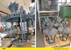 In 'place du Louvre', Paris, Neri SpA has removed some of the original posts and lanterns placed along the 'Court Carrée' and the 'Passagge Richelieu', and reproduced the individual components in cast bronze to build identical copies. http://www.neri.biz/en/Products/Restoration
