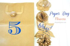 5 Paper Bag Flower ideas from @shoprubyjeans