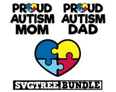 Autism SVG Autism Awareness Autism Mom Autism Dad Autism Heart Commercial Free Cricut Files Silhouette Files svg cuts svg bundle