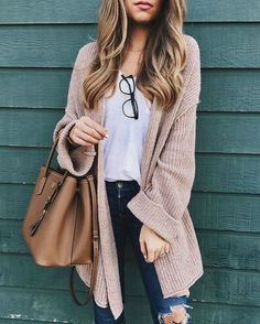 Comfy AND cozy = the perfect fall outfit. (Credit: Shop Style)