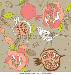 Find Rose Seamless Pattern Pomegranate Bird stock images in HD and millions of other royalty-free stock photos, illustrations and vectors in the Shutterstock collection. Thousands of new, high-quality pictures added every day. Pomegranates, Royalty Free Stock Photos, Wedding Inspiration, Bird, Rose, Illustration, Pattern, Color, Google Search