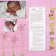 Your Birth Story  layout