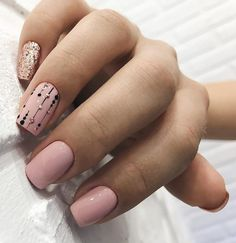 While some women like their nails to be long, the others find short nails practical. Check most stunning short nails designs for your inspiration. Blush Pink Nails, Nude Nails, Pink Manicure, Manicure Ideas, Acrylic Nails, Short Nail Designs, Best Nail Art Designs, Nails Ideias, Office Nails