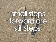 Small steps forward are still steps.
