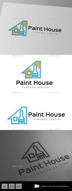 House Paint Logo - Buildings Logo Templates