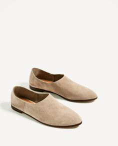ZARA - WOMAN - FLAT LEATHER SHOES