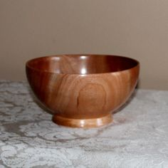 Cuban Mahogany Wood Bowl  3 by thequilthaus on Etsy, $45.00