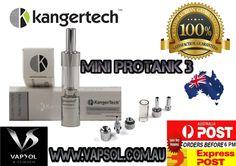 Kangertech protank 3 mini with free postage only at www.vapsol.com.au