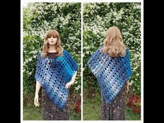 """(115) Learn How To Crochet """"Sapphire and Ice"""" Lace Ladies Poncho TUTORIAL #410 - YouTube"""