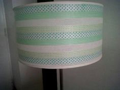 Washi tapes for decorating lampshades