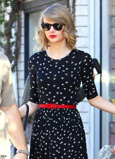 Taylor Swift is perfect inspiration for girls who aren't used to waves working in long locks. Go for a loose curling iron effect for hair that's really stubbornly straight like Taylor's, or simply add some salt spray and scrunch into damp hair before airdrying to get a youthful and effortless effect.