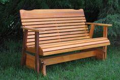 Amazon.com : 4' Cedar Porch Glider W/stained Finish, Amish Crafted : Patio Gliders : Patio, Lawn & Garden kilmer creek 179.99