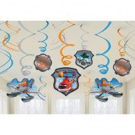 Disney Planes 2 Value Pack Foil Swirl Decorations - 12 pcs Wholesale Party Supplies, Kids Party Supplies, Planes Birthday, Birthday Balloons, Disney Planes Party, Wholesale Balloons, Disney Balloons, 2nd Birthday Parties, Baby Birthday